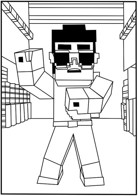 awesome printable minecraft coloring pages  toddlers