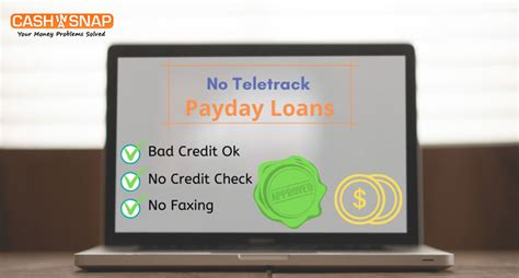 guaranteed loan approval no credit check