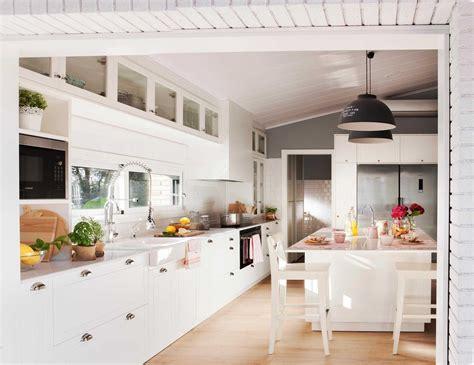 de cocinas blancas planos pequenas modernas  scodiocom