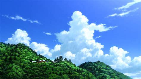 anime landscape sky anime background