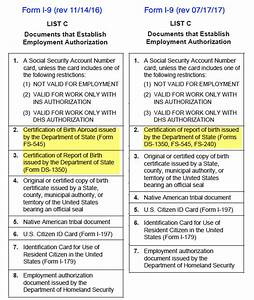 the july 2017 edition of the form i 9 what employers need With list of acceptable documents i 9 2017