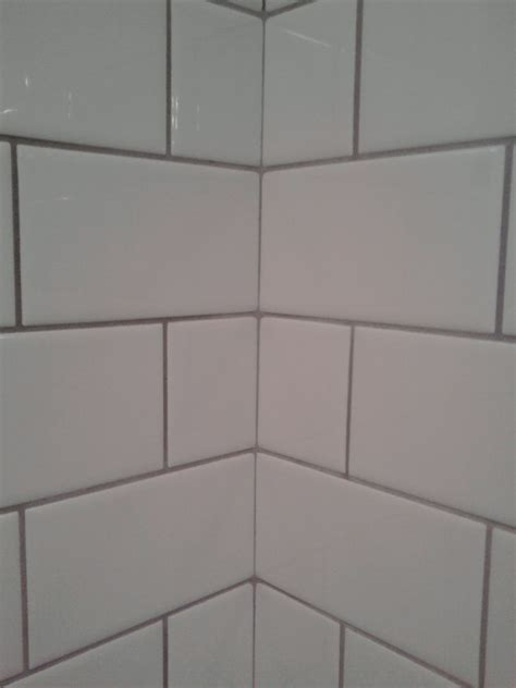 white subway tile with grey grout i subway tiles with darker grey grout laundry room
