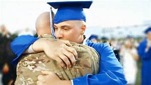 Military Dad Surprises Son At High School Graduation - YouTube