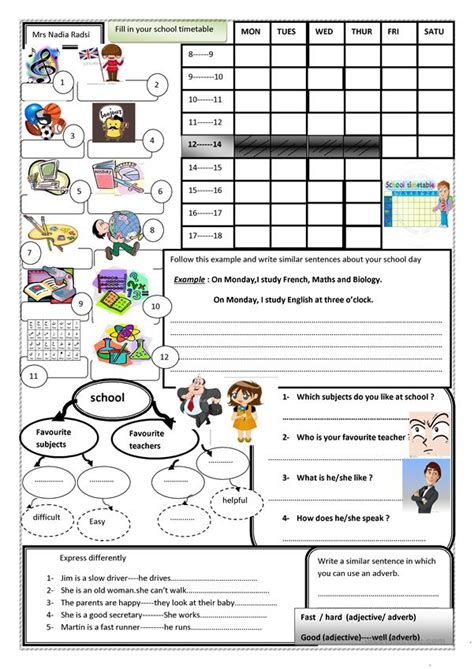 favourite teacher english esl worksheets