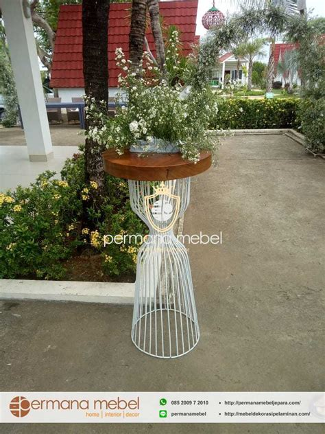 tempat pot bunga  besi pot rak bunga pelaminan terbaru