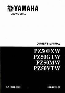 2007 Phazer Fx Yamaha Pz50fxw And Pz50gtw Snowmobile Owners Manual