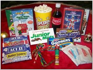 Christmas Movie Night Gift Basket with DVD