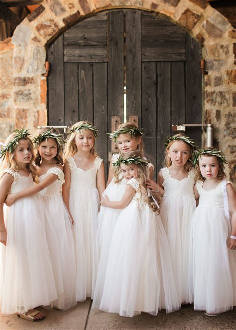 grace  lace flower girl dress flower girls
