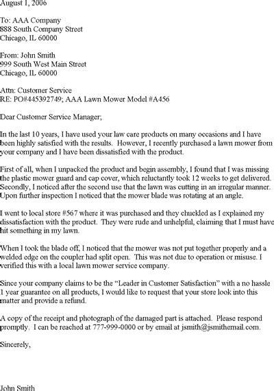 Customer Complaint Letter Template | Career/Job Stuff