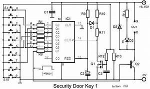 electronic door lock security key circuit schematic With automotive electronic password lock circuit diagram protection