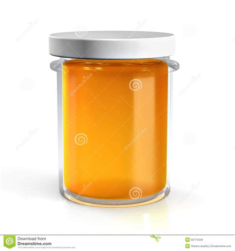 pot en verre de miel illustration stock image 50774349