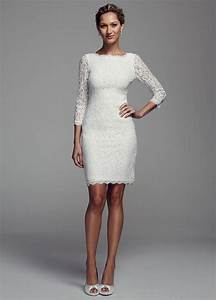david39s bridal short long sleeve lace wedding dress ebay With short long sleeve wedding dress