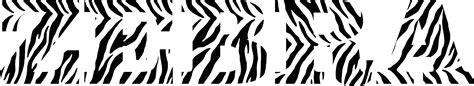 clipart zebra typography