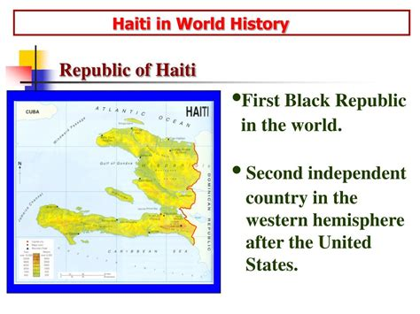 Ppt Haiti In World History Powerpoint Presentation Id