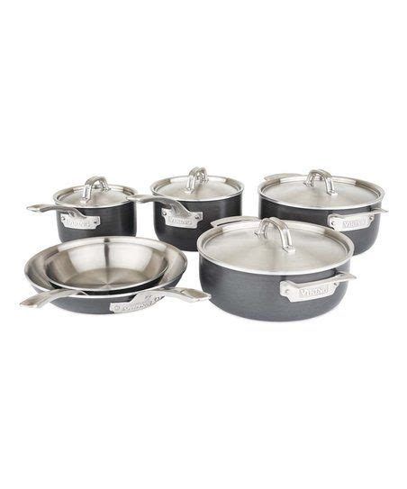 viking stainless steel  piece cookware set zulily cookware set stainless steel cookware