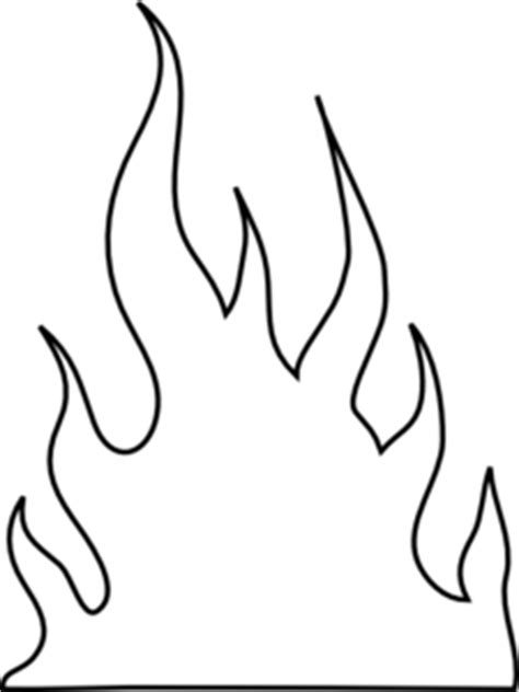Black Flame Outline Clipart