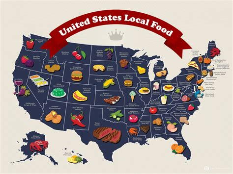 cuisine us ltpyl united states local food map visual ly