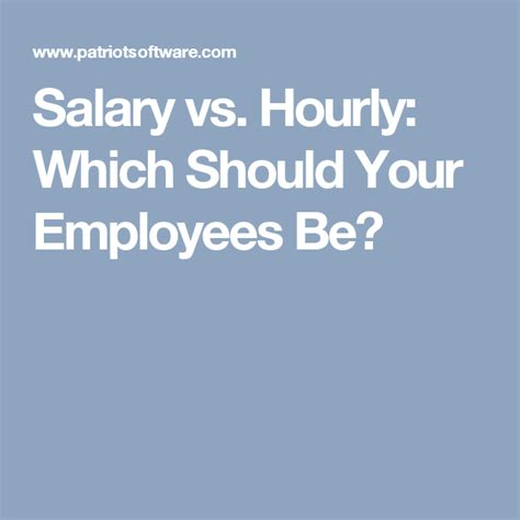 salary  hourly    employees