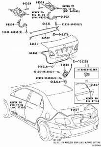 Toyota Corolla Deck Lid Seal  Weatherstrip  Luggage
