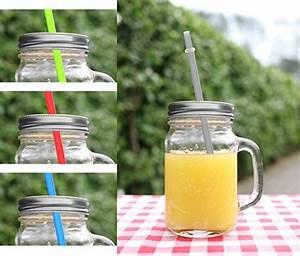 Becher Mit Deckel : 4er set trinkglas becher mit deckel silber strohhalm 350ml glas henkel ~ Orissabook.com Haus und Dekorationen