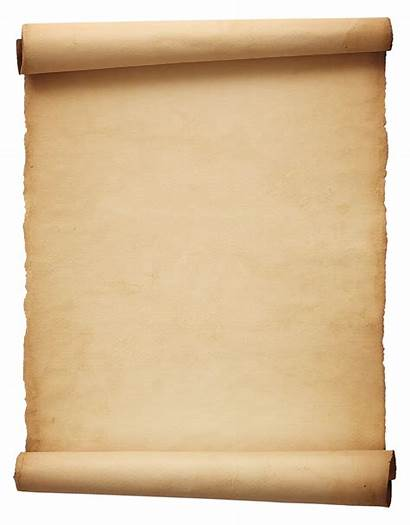 Scroll Transparent Parchment Rolled Scrolls Clipart Paper