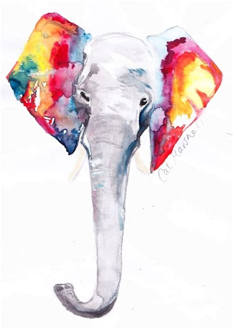 multicolor elephant tumblr