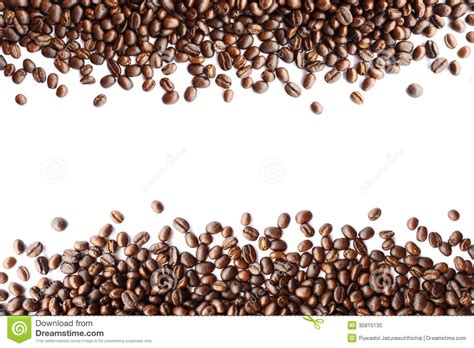 Coffee Beans At Border Stock Photo   Image: 35815130