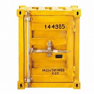 Canapé Jaune Maison Du Monde : bout de canap jaune container carlingue maisons du monde ~ Teatrodelosmanantiales.com Idées de Décoration