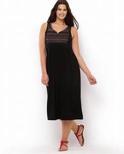 robe longue grande taille dentelle noire decollete en v With robe mi longue grande taille