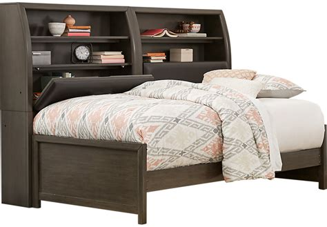 full size bookcase daybed santa cruz gray 5 pc full bookcase daybed daybeds colors