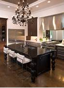 Elegant And Sumptuous Black Crystal Chandeliers Original Kitchen Lighting Susan Serra Gold Chandelier Tip Sheet On How The Right Lighting Can Make The Kitchen Come Alive This Kitchen Is A Great Example Of How To Make Our Modern Homes Mimic