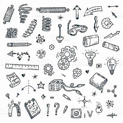 Physics Science Doodles Drawn Icons Doodle Clipart