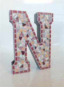 letter n wall art 6 mosaic home decor by mollycatmosaics With letter n wall art