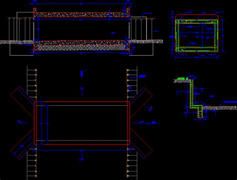 Box Auto Dwg by Bridge Type Box Culvert In Autocad Cad Free 95