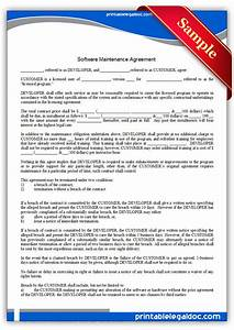 free printable software maintenance agreement form generic With legal documents software download free