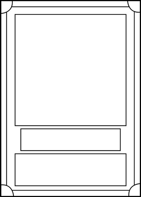 photo card maker templates trading card template front by blackcarrot1129 on