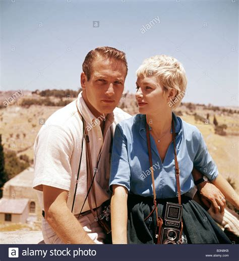 paul newman wife paul newman with wife joanne woodward while filming exodus