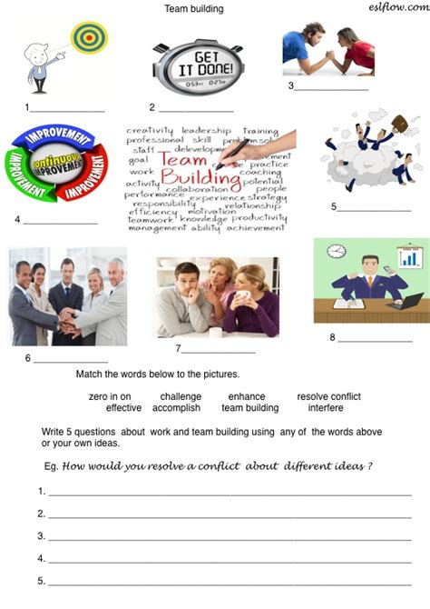 team building vocabulary speaking lesson for business