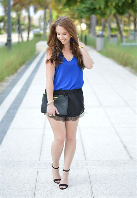 Black Lace Trim Shorts - Law of Fashion Blog