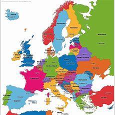 Die Länder Auf Der Europakarte  Vanessa  Europa Schule
