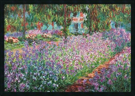 le jardin de monet a giverny framed with gel coated finish