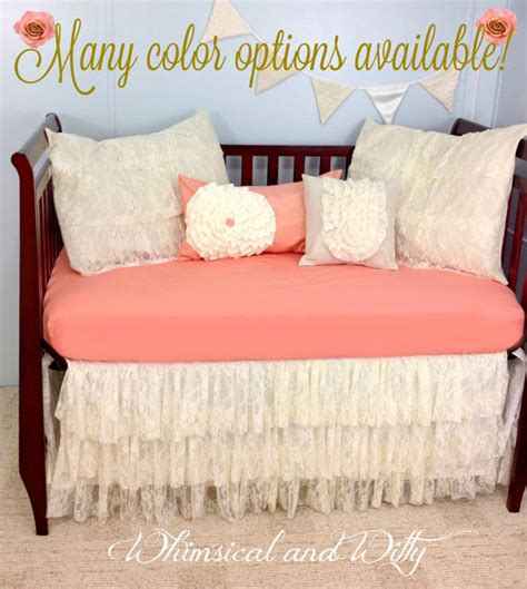 shabby chic bedding etsy baby bedding crib bedding shabby chic salmon by