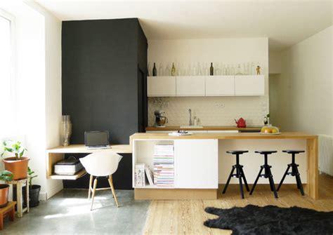aménagement cuisine ouverte sur salle à manger 12 idées pour aménager un bureau dans salon femme actuelle