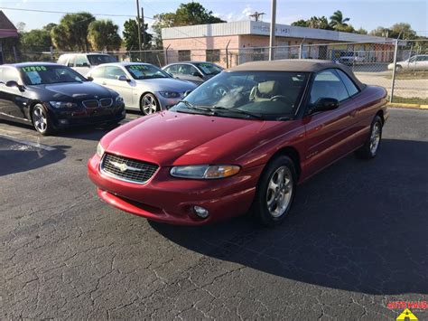 2000 Chrysler Sebring Jxi by 2000 Chrysler Sebring Jxi Convertible For Sale In Fort