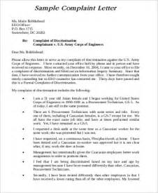 formal plaint letter