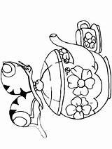 Coloring Teapot Colorare Farfalle Disegni Schmetterlinge Animals Coloriage Dibujo Papillons Adults Farfalla Colora Mariposa Disegno Printable Animali Bambini Completare Tratteggiati sketch template