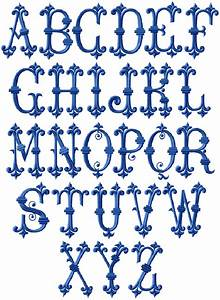 Romanesque initials for Embroidered alphabet letters