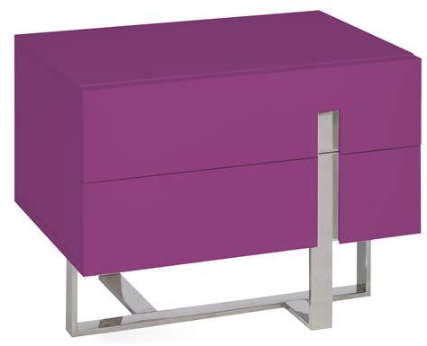 table de chevet moderne fuchsia laqu 233 et acier dezina lestendances fr