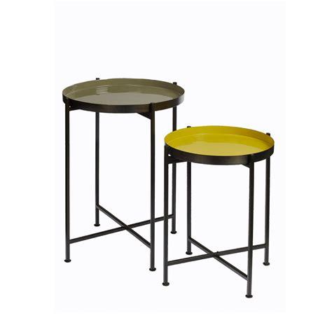 table basse amovible lot de 2 tables d appoint avec plateau amovible favorit pomax drawer