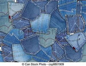 Stock Photographs of blue jeans pocket - background of different jeans pocket csp8801909 ...